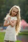 Beautiful blonde girl with long hair Royalty Free Stock Images