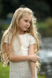 Beautiful blonde girl with long hair Royalty Free Stock Photography