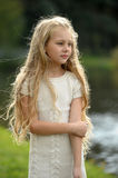 Beautiful blonde girl with long hair Royalty Free Stock Photo