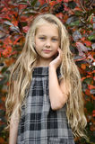 Beautiful blonde girl with long hair Stock Images