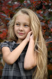Beautiful blonde girl with long hair Royalty Free Stock Photos