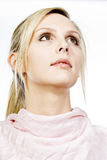 Beautiful Blonde Girl Looking Off Camera Royalty Free Stock Images