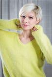 Beautiful blonde girl model Stock Image