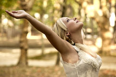 Beautiful blonde girl Stock Images