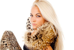 Beautiful blonde girl posing Stock Photo