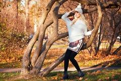 Beautiful blonde girl in posing Stock Photos
