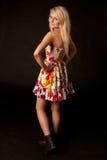 Beautiful blonde girl posing in studio Royalty Free Stock Image