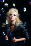 Beautiful blonde girl rocker Royalty Free Stock Image