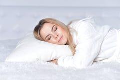 Beautiful blonde girl sleeping Stock Photography