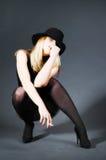 Beautiful blonde girl smoking Stock Image
