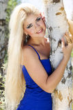Beautiful blonde girl. Spring time Stock Photography