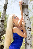 Beautiful blonde girl. Spring time Royalty Free Stock Photography
