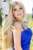 Beautiful blonde girl. Spring time Royalty Free Stock Photos