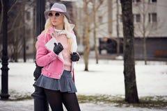 Beautiful blonde girl wearing sunglasses Royalty Free Stock Image