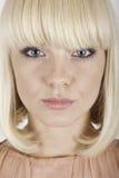 Beautiful blonde girl on white background Stock Photo