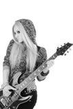 Beautiful blonde with a guitar Stock Photos