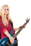 Beautiful blonde with a guitar Royalty Free Stock Photo