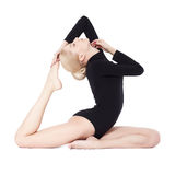Beautiful blonde gymnast Royalty Free Stock Images