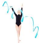 Beautiful blonde gymnast Stock Image