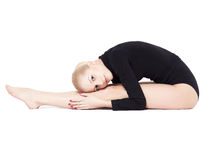 Beautiful blonde gymnast Royalty Free Stock Photography