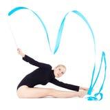 Beautiful blonde gymnast Stock Photography