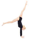 Beautiful blonde gymnast Royalty Free Stock Photos