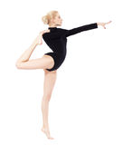 Beautiful blonde gymnast Royalty Free Stock Photo