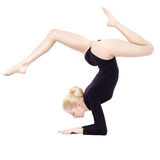 Beautiful blonde gymnast Stock Images