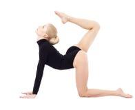 Beautiful blonde gymnast Royalty Free Stock Image