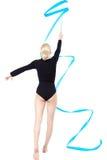 Beautiful blonde gymnast Stock Photos