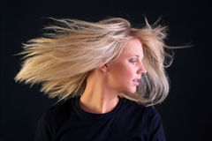 Beautiful blonde hair Stock Photo