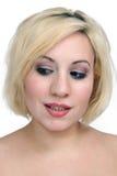 Beautiful Blonde Headshot (2) Stock Image