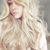 Beautiful blonde. Lifestyle photo of beautiful blonde woman. Calm, harmony and beauty Stock Images
