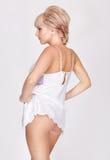 Beautiful blonde in lingerie Stock Photos
