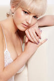 Beautiful blonde in lingerie Royalty Free Stock Images