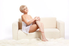 Beautiful blonde in lingerie Stock Photography