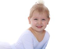 Beautiful blonde little girl, close-up Royalty Free Stock Photo