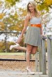 Beautiful Blonde Model Stock Photo