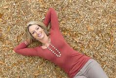 Beautiful Blonde Model Stock Photography