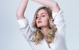 Beautiful blonde model Royalty Free Stock Photo