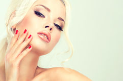 Beautiful blonde with mysterious look. Stock Photography