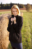 Beautiful blonde in a nature Royalty Free Stock Photo