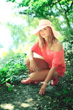 Beautiful  blonde in a nature Royalty Free Stock Photography