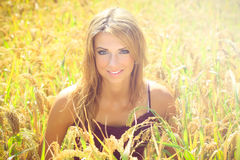 Beautiful  blonde in a nature Royalty Free Stock Image