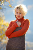 Beautiful blonde outdoor Royalty Free Stock Image