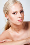 Beautiful blonde portrait in studio Royalty Free Stock Images