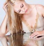 Beautiful blonde portrait in studio Stock Image