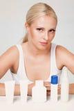 Beautiful blonde portrait in studio Stock Images