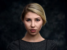 beautiful blonde portrait woman Στοκ εικόνες με δικαίωμα ελεύθερης χρήσης