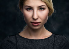 beautiful blonde portrait woman Στοκ Εικόνες